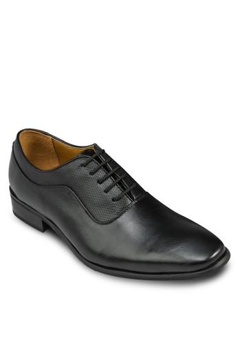 簡約暗紋繫帶皮鞋, 鞋, 休閒esprit 澳門鞋
