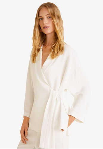 Mango white Flowy Suit Blazer ECE98AA06529A1GS_1