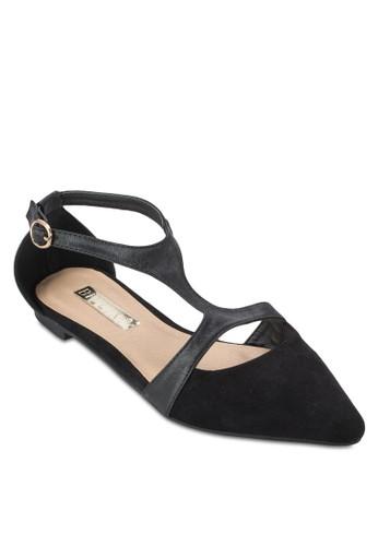 Sabbesprit 會員ath 側鏤空尖頭平底鞋, 女鞋, 鞋