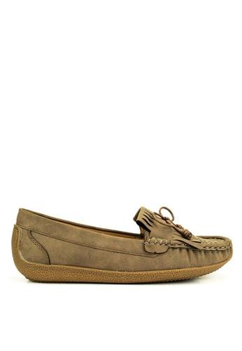 Mario D' boro Runway beige Addison Flat Shoes 55656SH61BA1DCGS_1