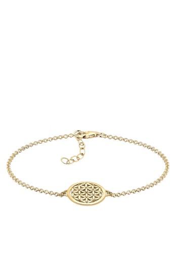 生命之花 925 純銀鍍金手環, 飾品配件, 手鐲 &esprit台灣outletamp; 手環