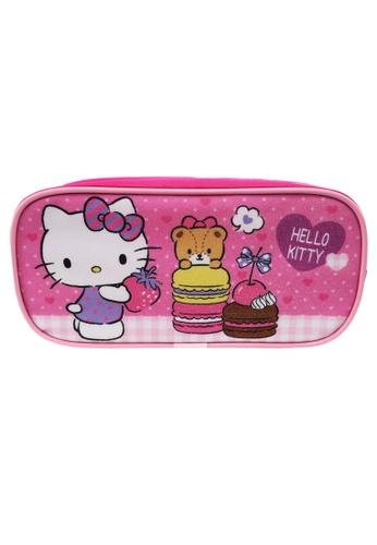 Hello Kitty pink Hello Kitty Macaroon Square Pencil Bag E10C7KC7FF58D4GS_1