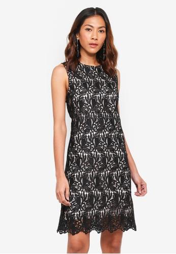 bYSI black Crochet Layer Trimmed Dress 417EDAA67A86FEGS_1