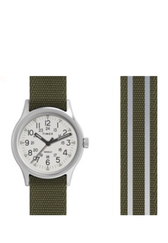 a206ed961 TIMEX green and silver Timex Men's Watch TW2R80900 Style Core Camper  Aluminum 42EB6AC0DC791CGS_1
