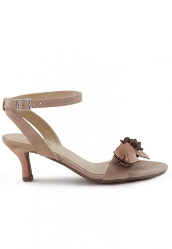 Shu Talk pink Summer Suede Peep Toe Heels SH617SH2USE9HK_1