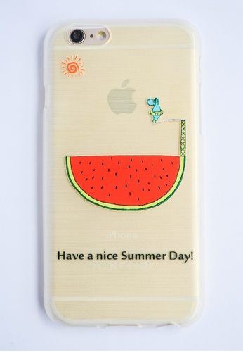 Fancy Cellphone Cases multi Nice Sumer Day Soft Transparent Case for iPhone 6 FA644AC20ZXJPH_1