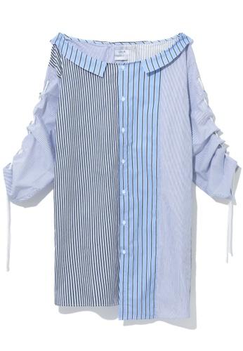 Fivecm blue Split shirt dress CD671AAB3E5763GS_1