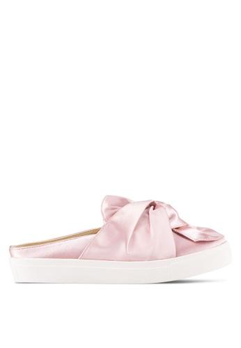 Something Borrowed pink Satin Knot Slip On Flats BC70FSH284BC8FGS_1