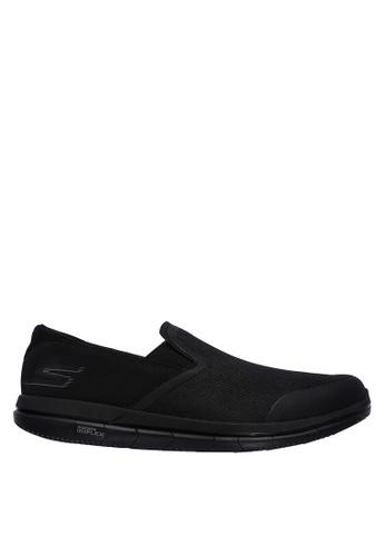 Skechers black Go Flex  Slip-Ons 98F9ASH1E1532DGS_1