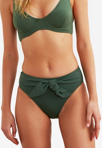 Trendyol green Tie Front Bikini Bottom F4B11US6CB3907GS_1