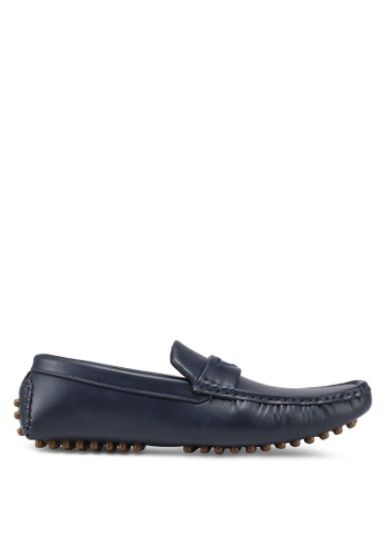 UniqTee blue Casual Loafers With Strap F7F73SH103DA79GS_1