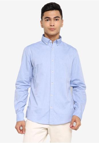 Springfield blue Pinpoint Shirt 0F7ACAACC58FFEGS_1