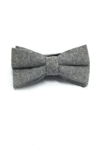 Splice Cufflinks Dolly Series Light Grey Wool Pre-tied Bow Tie SP744AC31QOMSG_1