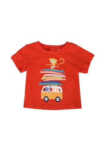 DU PAREIL AU MÊME (DPAM) orange Orange T-Shirt With Camper Van Print 96E10KA379BE3BGS_1