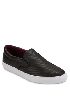 Embossed Faux Leather Slip - Ons