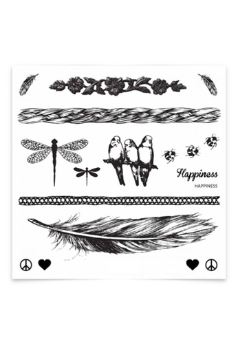 Stylodeco Temporary Tattoos, Happiness F2389ESDE05BDDGS_1
