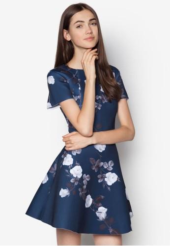 Love 背部鏤空印花洋裝, 服飾, 服zalora 衣服評價飾