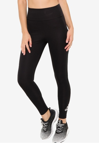 ADIDAS 黑色 designed to move big logo sport tights 5D2FEAABA577ABGS_1