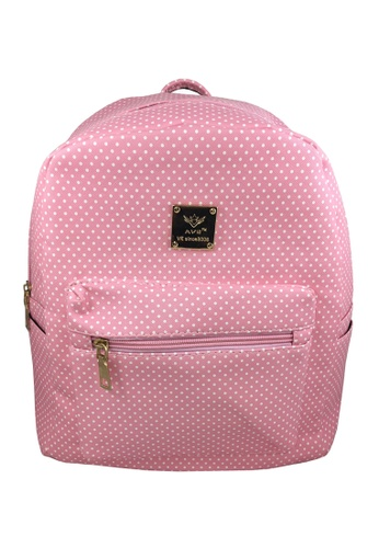 TCWK pink TCWK Women Pink Dot Backpack 84A24ACDD3020EGS_1