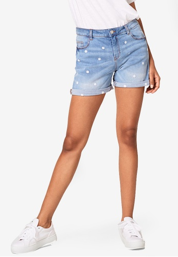 ESPRIT blue Denim Regular Shorts 8B36AAA3662FF7GS_1