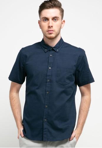 Men's Top navy CARSON - NAVY Shirt 0CDB6AAC410B71GS_1