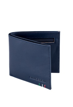 c839d4c2be88 ENZODESIGN navy Italian Leather Ultra Slim Wallet 49301AC13C1CDAGS 1