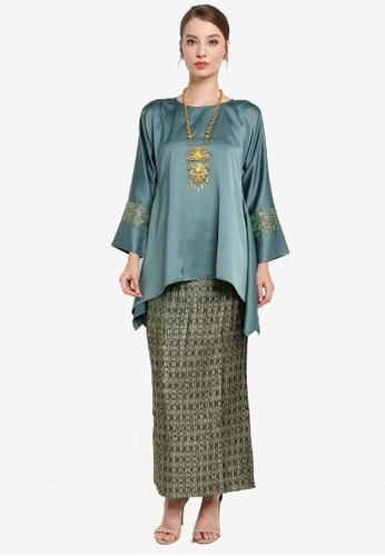 Yans Creation green Melayu Manis Kurung D39FBAA17FC0EAGS_1