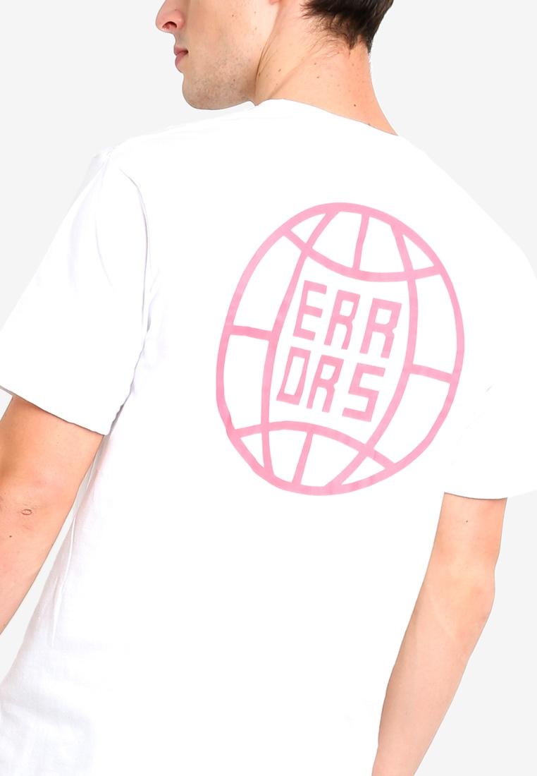 Of White Shirt Short World Factorie Errors T Graphic Sleeve Hnx0X