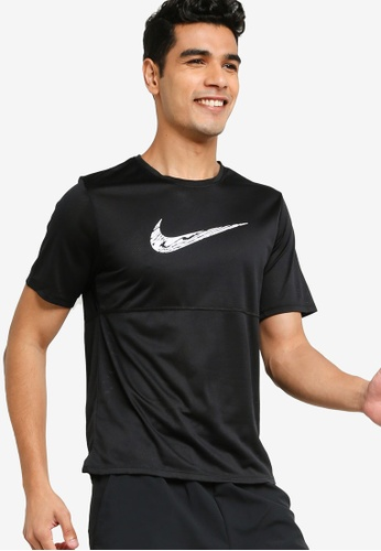 Nike black Breathe Running Tee 1A2D8AA7783831GS_1