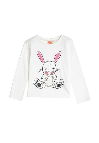 KOTON white Long Sleeve T-Shirt 6F66FKAAE14615GS_1