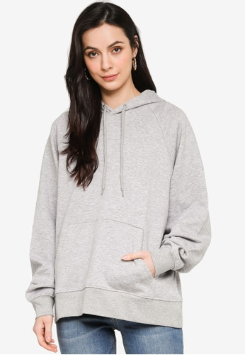 H&M grey Hooded Top 73A0AAA3C21373GS_1