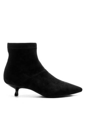 Twenty Eight Shoes 黑色 猄布踝靴1592-6 D5A35SHF0F6188GS_1