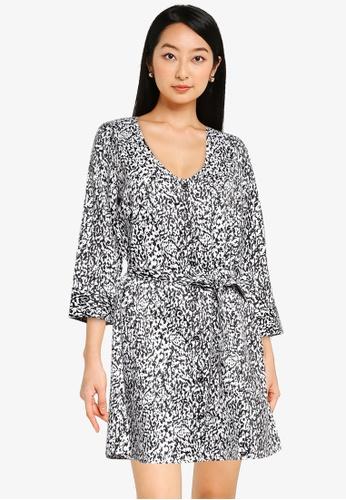 JACQUELINE DE YONG white Alisa 3/4 Sleeves Shirt Dress 74059AA4B7530EGS_1