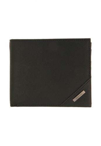 CROSSING black Crossing Riforma RFID Bi-fold Wallet With Coin Pocket - Black 6DB5BAC0206559GS_1