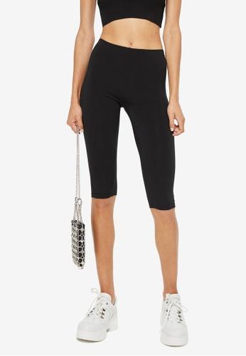 TOPSHOP black Slinky Cropped Leggings 15309AA685BD26GS_1