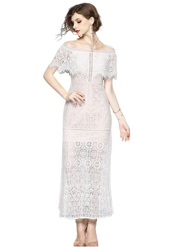 a33ccf39e3a4 Sunnydaysweety white 2018 New White Lace Off Shoulder One Piece Dress  CA071872 695A4AA78D0797GS 1