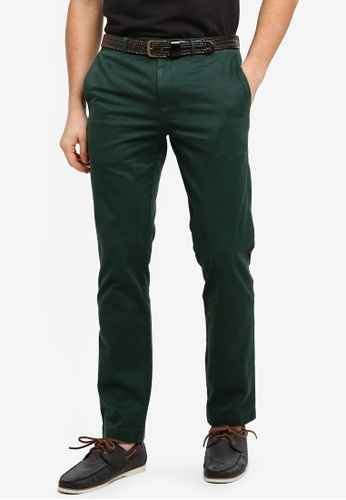 Brooks Brothers green Red Fleece Slim Chino Pine Grove Pants C065FAAF6F7202GS_1