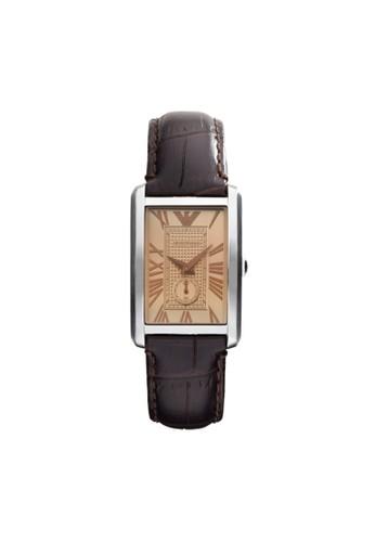 Emporio Armani MARCO方型錶款系列腕錶 AR1637, zalora開箱錶類, 時尚型