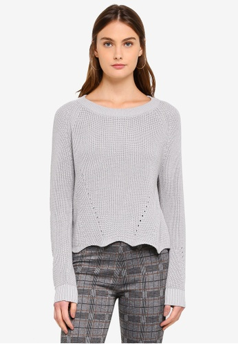 OVS grey Knitted Pullover With Wavy Hemline 866CDAAA5750DCGS_1