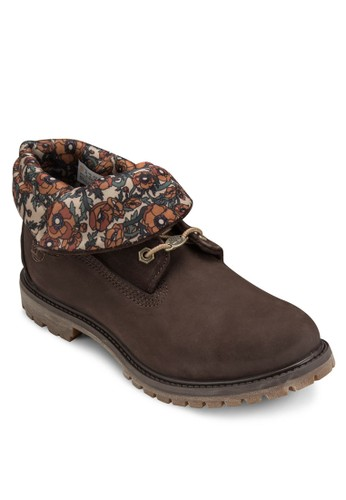 Timberland Authesprit 京站entics 印花翻領靴, 女鞋, 鞋