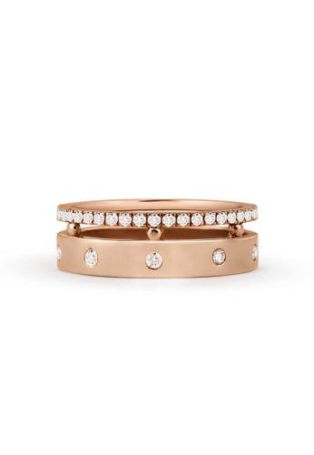 Aquae Jewels pink Ring Rich & Bold Diamond Band – 18K Gold - Rose Gold 8AB53AC56E15A9GS_1