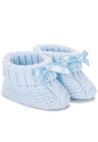 RAISING LITTLE blue Knitted Booties 3A0EAKS9CC5484GS_1