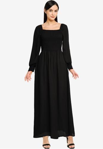 JACQUELINE DE YONG black JDYMINA 3/4 SMOCK ANKLE DRESS WVN 2E337AAAD4E5EEGS_1