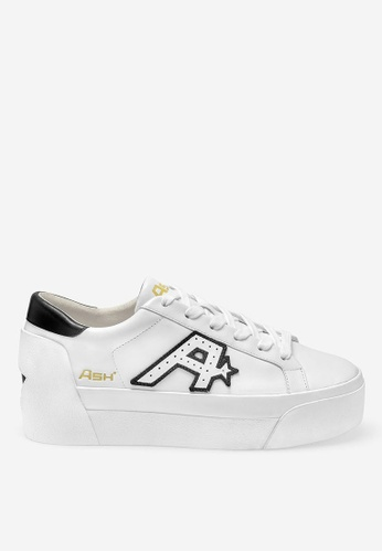 ASH white Blitz - White Embroidered Patch Low-Top Sneakers 6EAABSHC9DF718GS_1