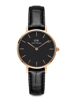 f370fe424223b Daniel Wellington black and gold Petite Reading Watch 28mm DA376AC0SBUAMY 1