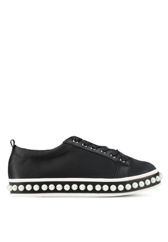Something Borrowed black Pearl Studded Sneakers 4016DSH06D09B4GS_1