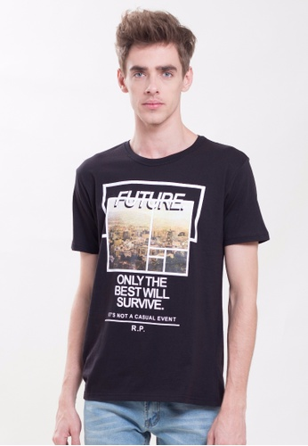 Drum Future Graphic Tee-black DR425AA0S7DDMY_1