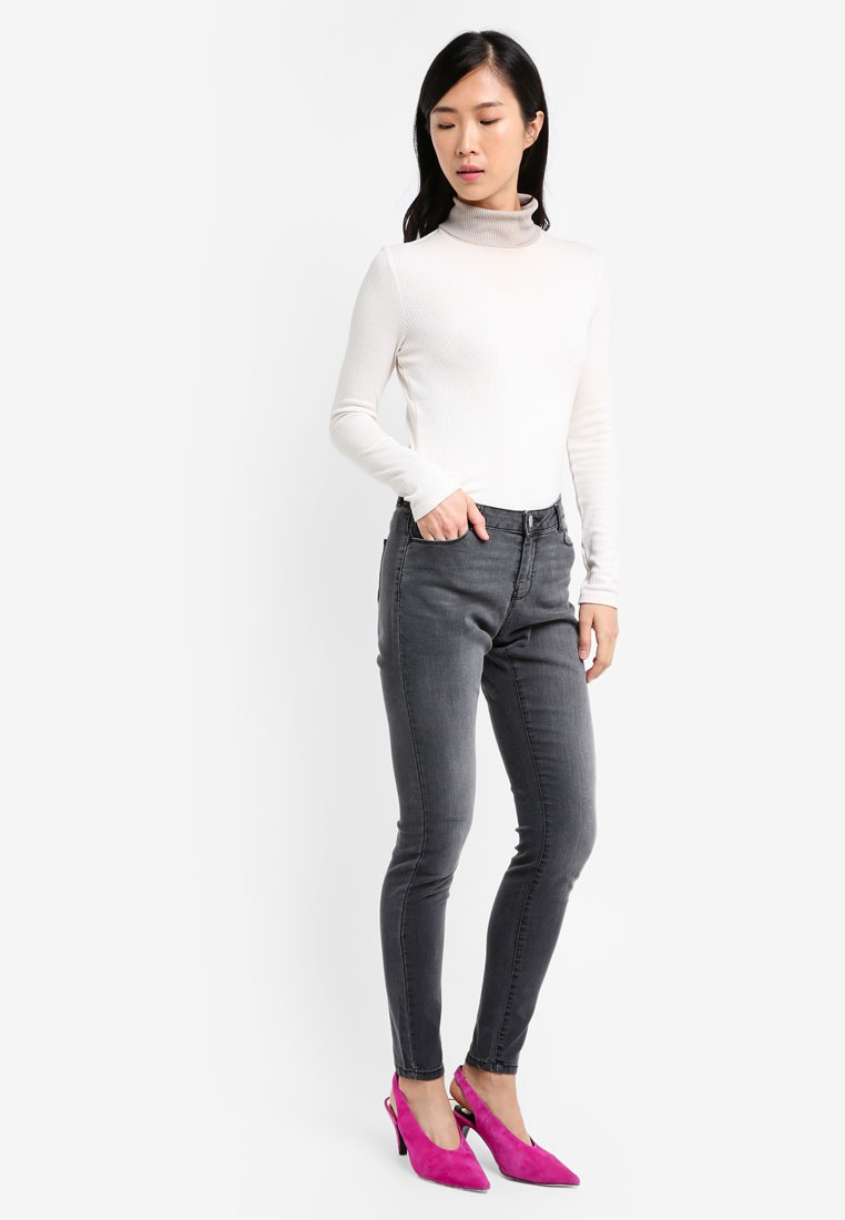 Skinny Jeans Washed Dorothy Perkins Ashley Grey Statement gnwRnTFSq
