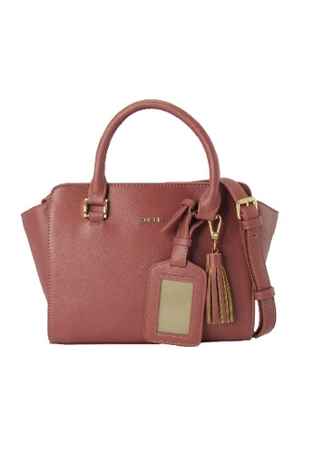 Sembonia Red Synthetic Leather Satchel Bag Maroon Se598ac98rrxmy 1