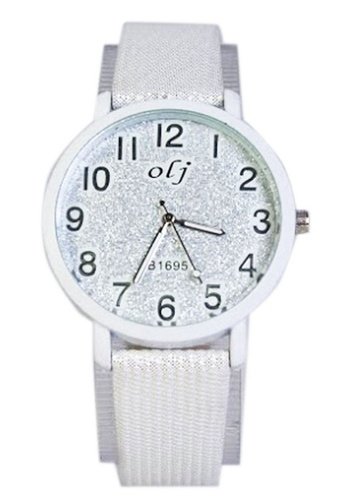 World of Watches white OLJ Glitters Women's Leather Strap Watch B1695 WO566AC65TZUPH_1
